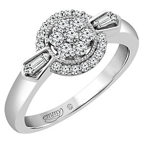 Emmy London Palladium 1/3 Carat Diamond Cluster Ring - Product number 4536703
