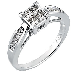 18ct White Gold 0.60 Carat Princessa Diamond Ring