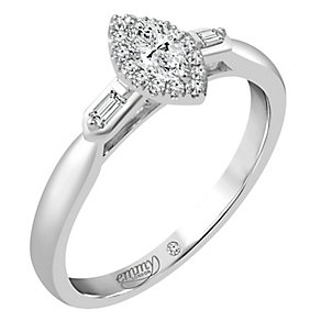 Emmy London Platinum 1/4 Carat Diamond Solitaire Ring - Product number 4537750