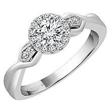Emmy London Palladium 2/5 Carat Diamond Solitaire Ring - Product number 4538277