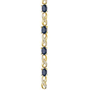 9ct Gold Sapphire & Diamond Bracelet - Product number 4538404