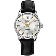 Longines Conquest Heritage men's leather strap watch - Product number 4538781