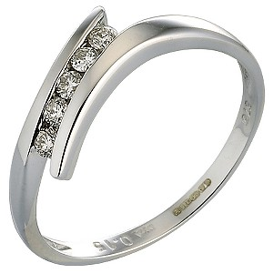 White Gold Diamond Ring - Product number 4541715