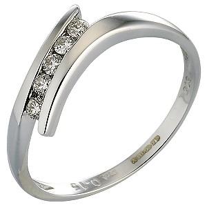 9ct White Gold 0.15 Carat Diamond Ring