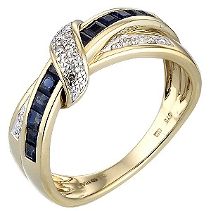 Gold Sapphire and Diamond Ring - Product number 4542258