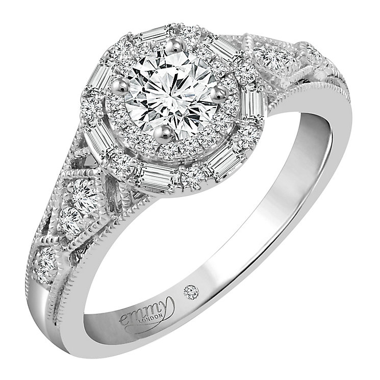 Emmy London Platinum 2/3 Carat Diamond Solitaire Ring - Product number 4543157