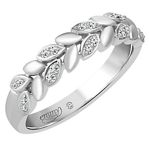 Emmy London 18ct White Gold 1/10 Carat Diamond Ring - Product number 4544838