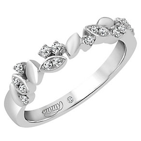 Emmy London 18ct White Gold 1/10 Carat Diamond Ring - Product number 4544951