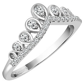 Emmy London 18ct White Gold 1/5 Carat Diamond Ring - Product number 4545222