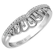 Emmy London Platinum 1/8 Carat Diamond Ring - Product number 4545494