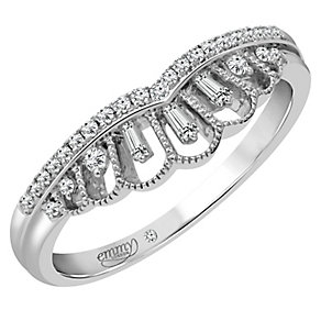 Emmy London Platinum 0.15 Carat Diamond Ring - Product number 4545494