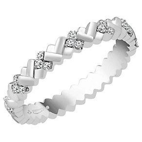 Emmy London Platinum 0.15 Carat Diamond Set Ring - Product number 4545613