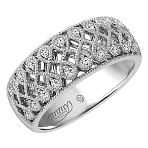 Emmy London 9ct White Gold 0.15 Carat Diamond Ring - Product number 4545745
