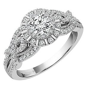 Emmy London 18ct White Gold 3/4 Carat Diamond Solitaire Ring - Product number 4546148