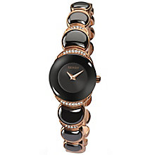 Seksy Ladies' Rose Gold-Plated Black Bracelet Watch - Product number 4546504