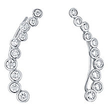 Sterling Silver Cubic Zirconia Circle Ear Climber Earrings - Product number 4546695