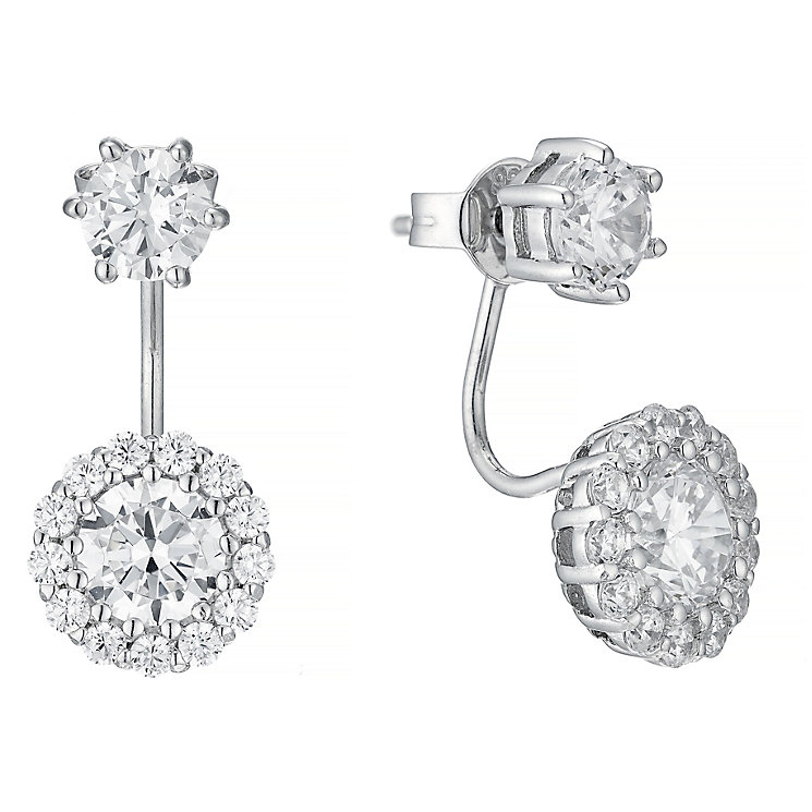 Sterling Silver Cubic Zirconia Drop Earrings - Product number 4546733