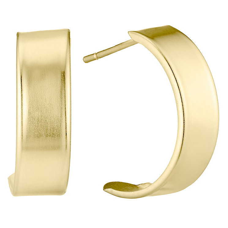 9ct Gold Plain Wedding Earrings - Product number 4546768