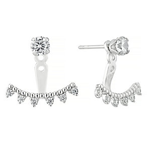 Sterling Silver Cubic Zirconia Arrow Drop Earrings - Product number 4546776