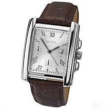 Sekonda Men's Silver Dial Brown Leather Strap Watch - Product number 4546792