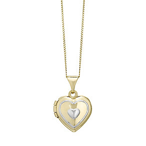 Kids 9ct Yellow Gold Heart Locket - Product number 4548523