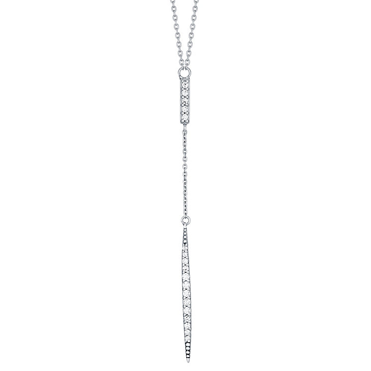 Sterling Silver Cubic Zirconia Drop Necklace - Product number 4548582