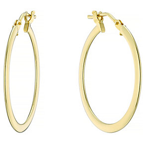 9ct Yellow Gold 21mm Flat Creoles - Product number 4548892