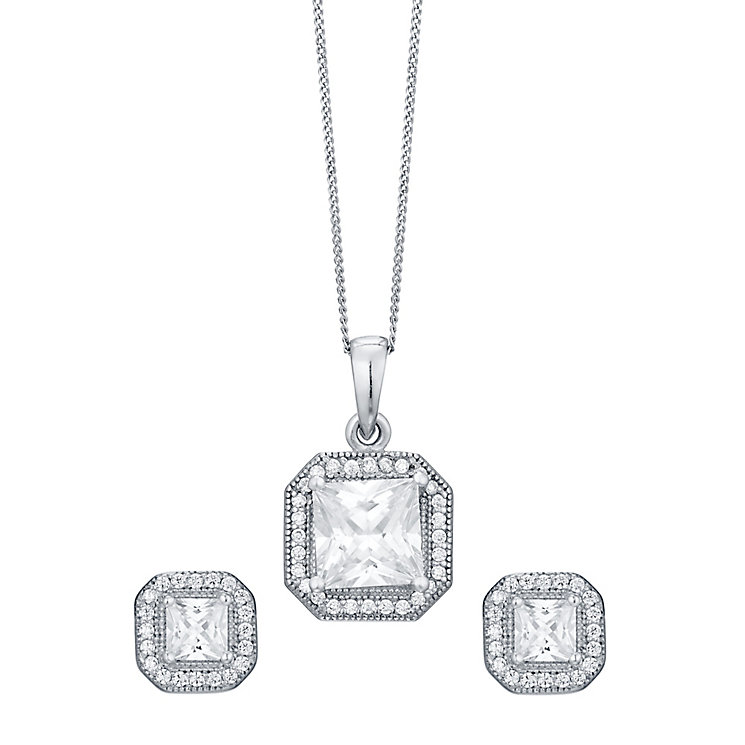 Sterling Silver Cubic Zirconia Jewellery Set - Product number 4548922