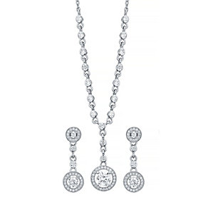 Sterling Silver Cubic Zirconia Jewellery Set - Product number 4548949