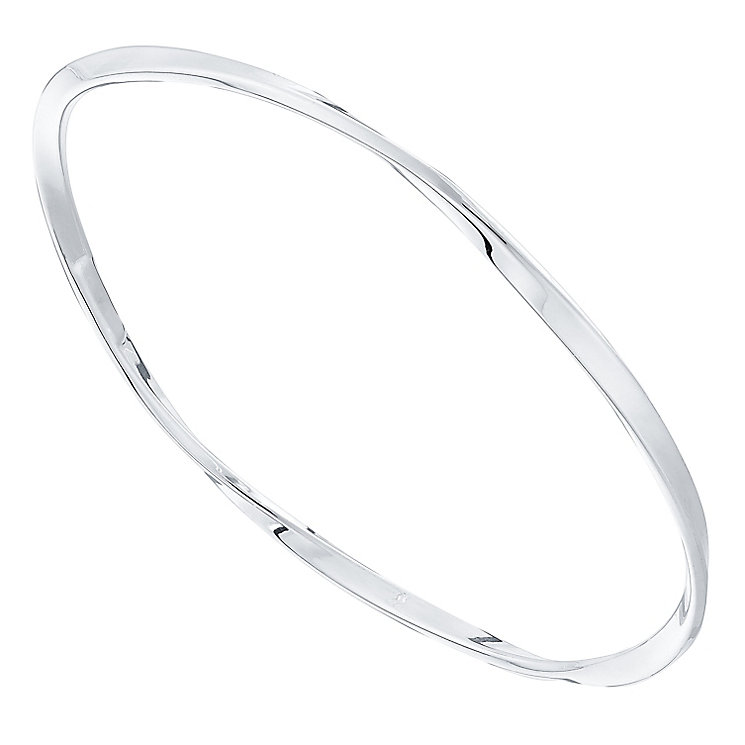 Sterling Silver Flat Twist Bangle - Product number 4548973