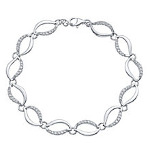 Sterling Silver Scalloped Bracelet - Product number 4549481