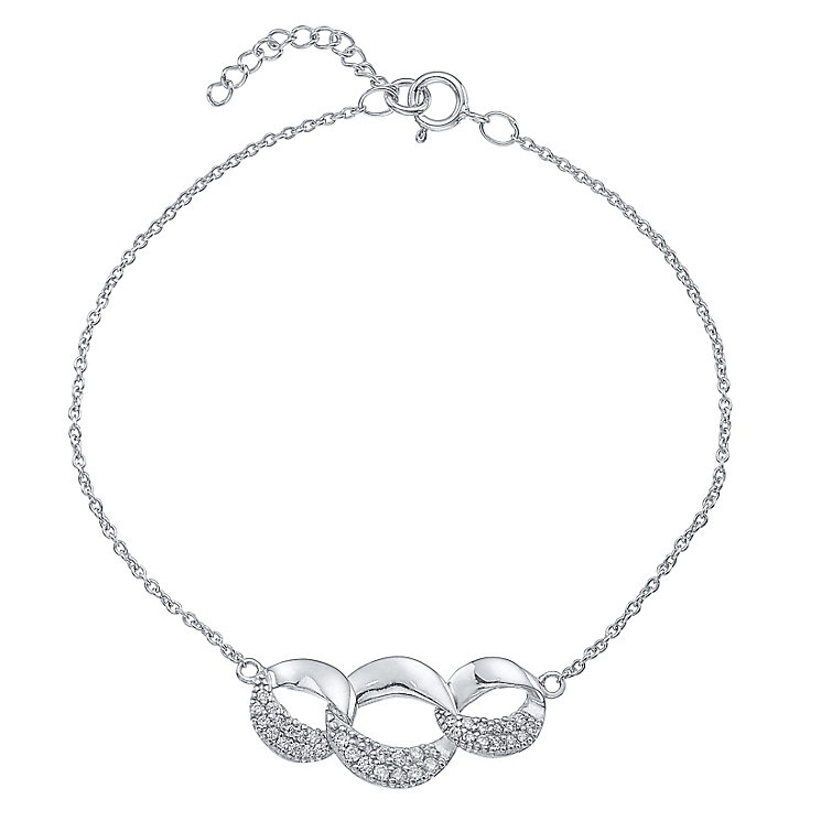 Sterling Silver Interliked Bracelet - Product number 4549538