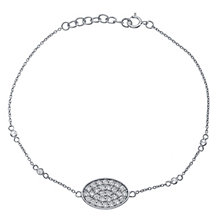 Sterling Silver Cubic Zirconia Bracelet - Product number 4549546
