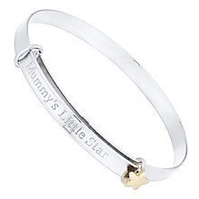 Sterling Silver & 9ct Gold Babies' Bangle - Product number 4549619