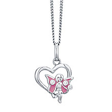 Sterling Silver Cubic Zirconia Children's Fairy Pendant - Product number 4549627