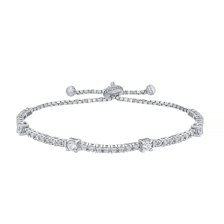 Silver Cubic Zirconia Tennis Bracelet - Product number 4549635