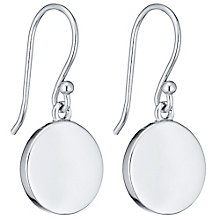 Silver Plain Drop Earrings - Product number 4549651