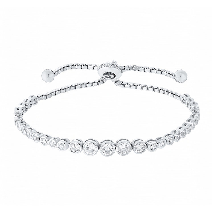 Silver Cubic Zirconia Tennis Bracelet - Product number 4549716