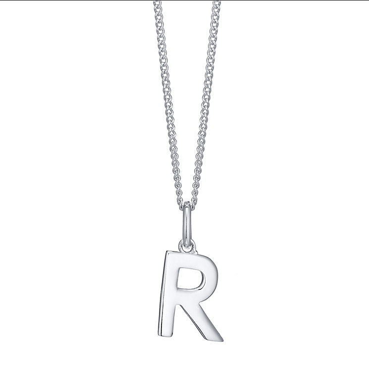 Silver R Initial Pendant - Product number 4549724
