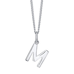 Silver M Initial Pendant - Product number 4550684