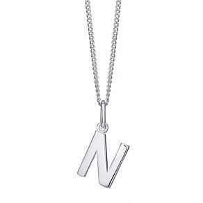 Silver N Initial Pendant - Product number 4550749