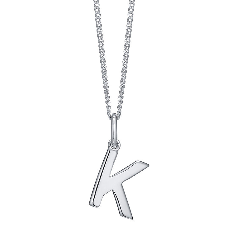 Silver K Initial Pendant - Product number 4551338