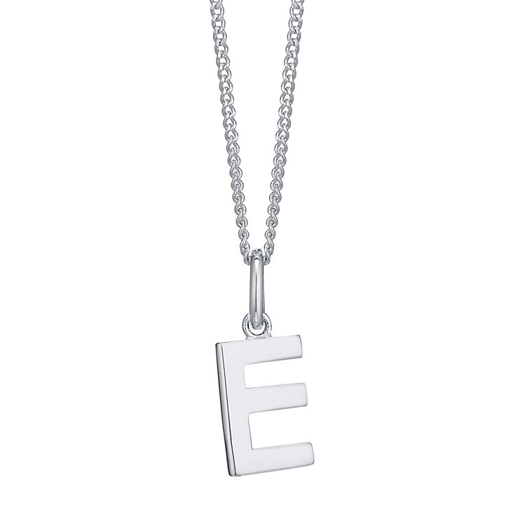 Silver E Initial Pendant - Product number 4551362