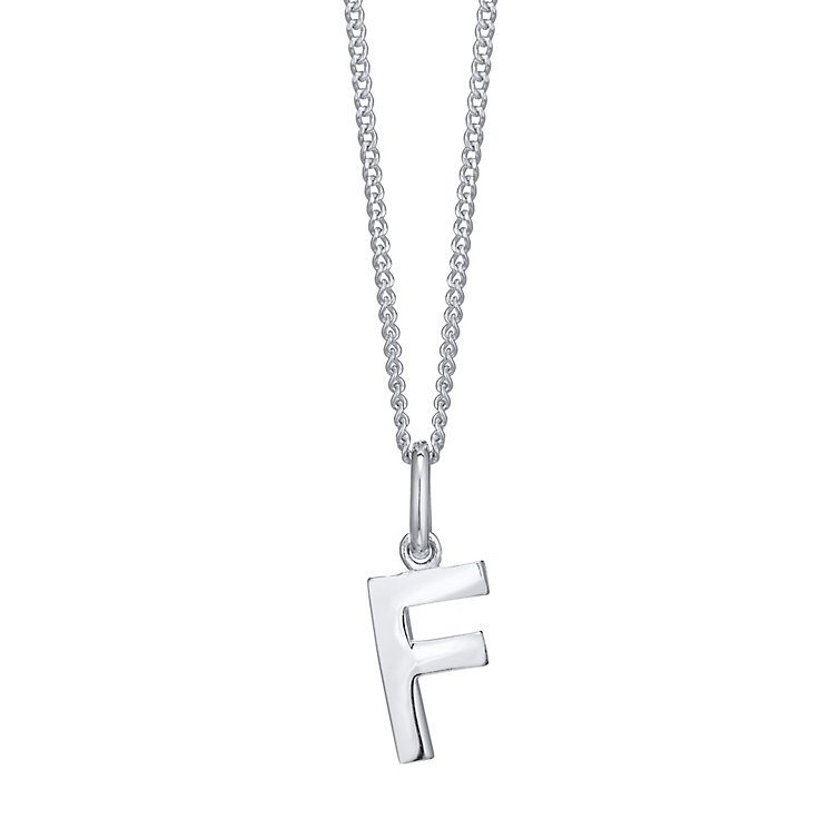 Silver F Initial Pendant - Product number 4551370