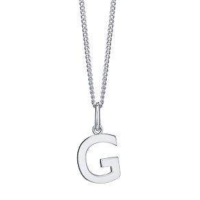 Silver G Initial Pendant - Product number 4551389