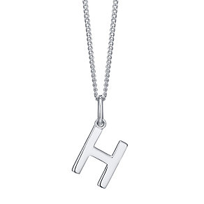 Silver H Initial Pendant - Product number 4551397