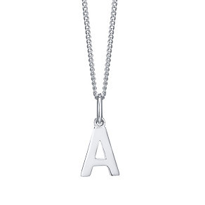 Silver A Initial Pendant - Product number 4551419