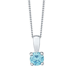 November Silver Blue Cubic Zirconia Pendant - Product number 4551486