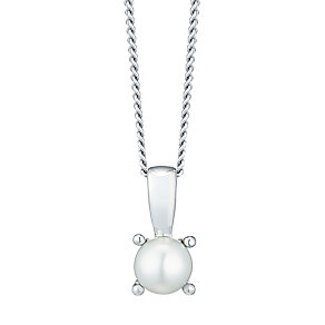 June Sterling Silver Imitiation Pearl Pendant - Product number 4551842