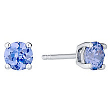 December Sterling Silver Cubic Zirconia Stud Earrings - Product number 4551877